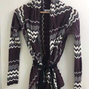 Jennifer Lopez Open Front Sweater Cardigan XS
